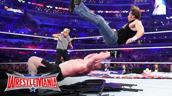 Lesnar vs. Ambrose - Painful...
