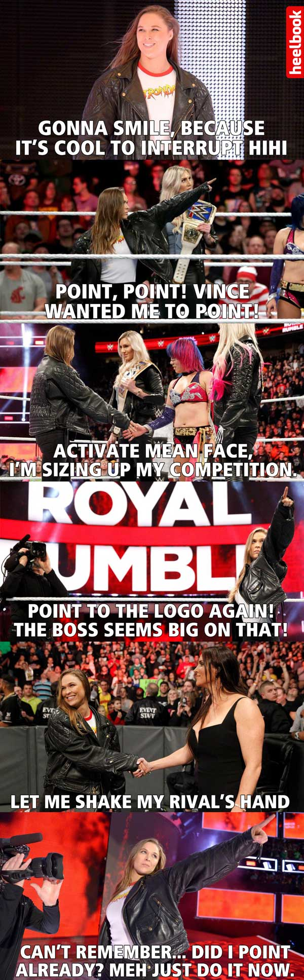 Royal Rumble 2018 In 13 Memes That Point To The Wrestlemania Logo